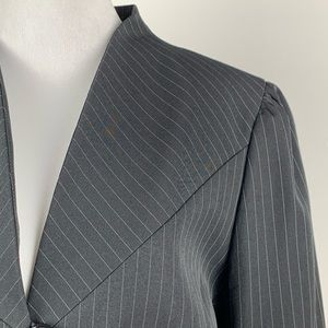 Tahari Jackets & Coats - New Tahari blazer size 14 black pinstriped